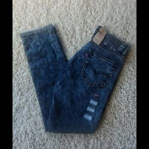 NWT Levi's 511 Black Acid Wash Slim Jean 29×30